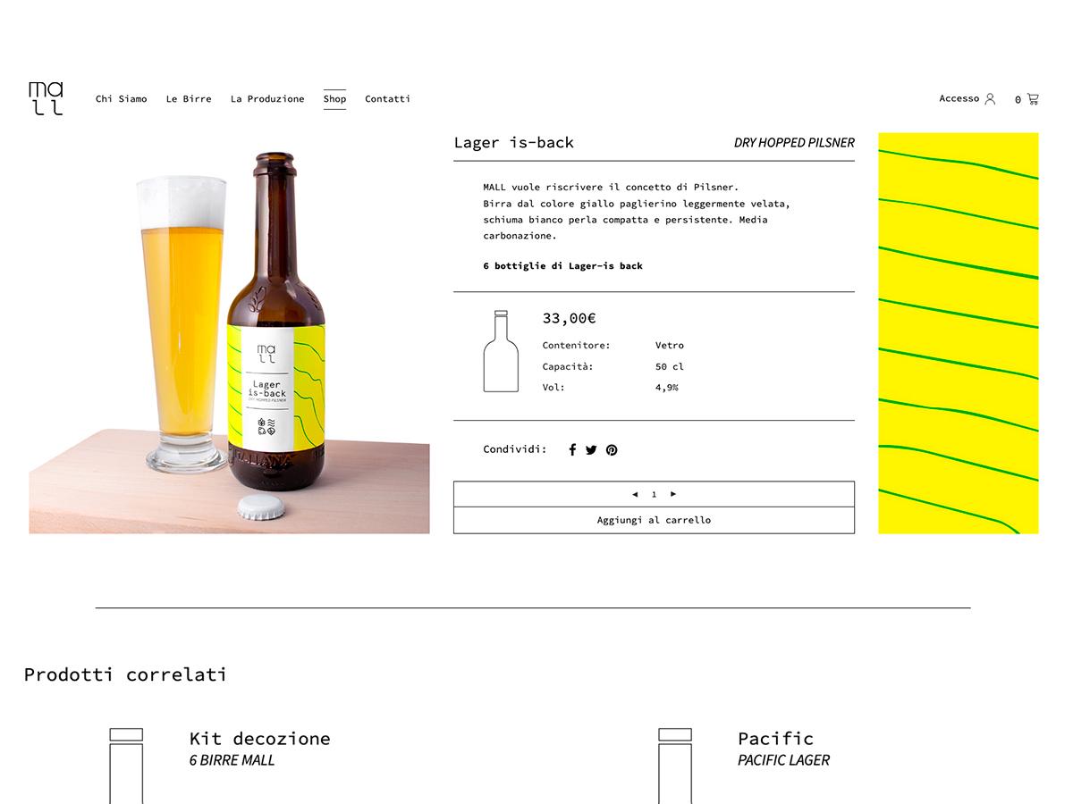 Realizzazione sito web per birrificio Mall