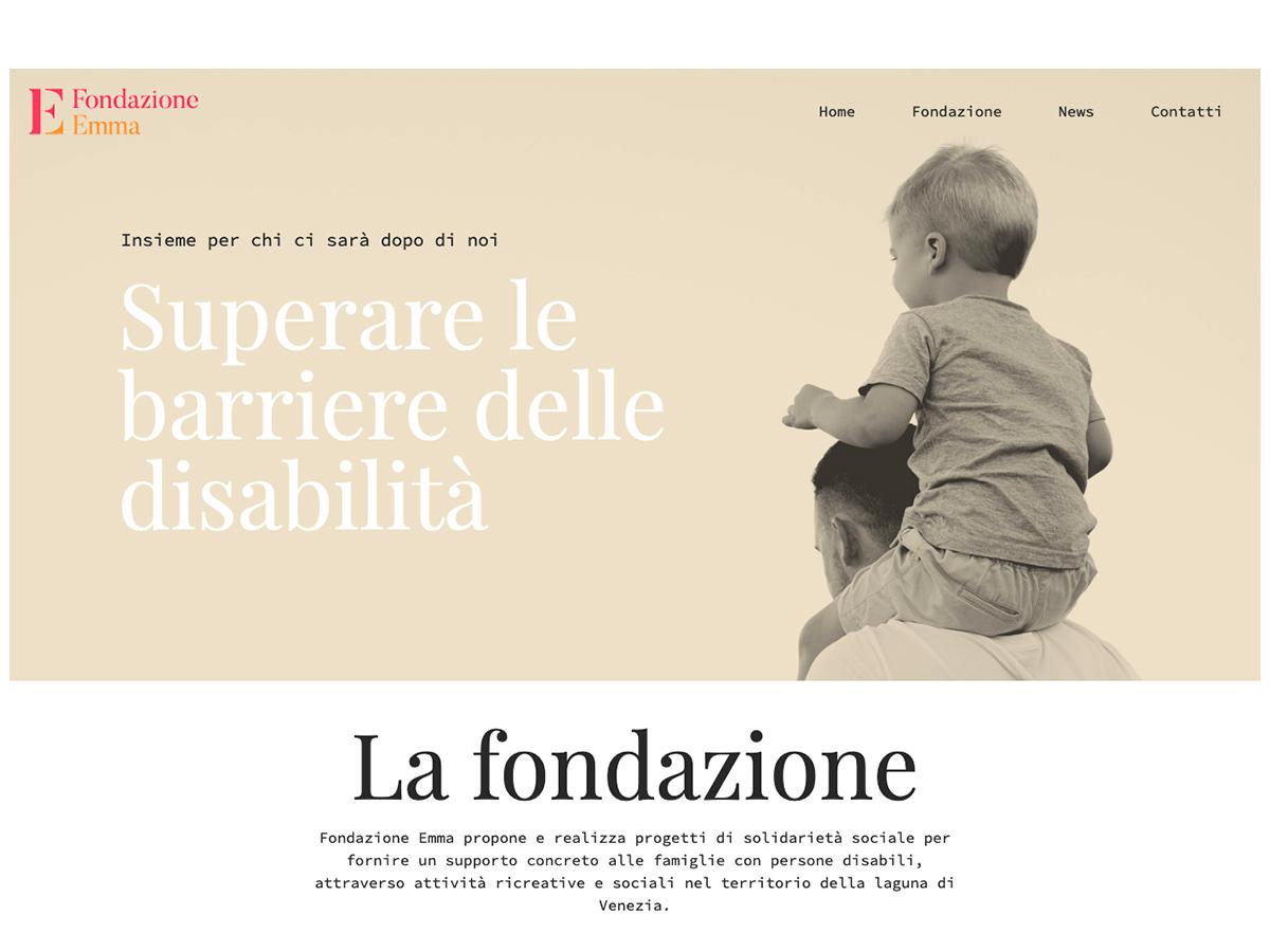 Sito internet per Fondazione Emma Venezia