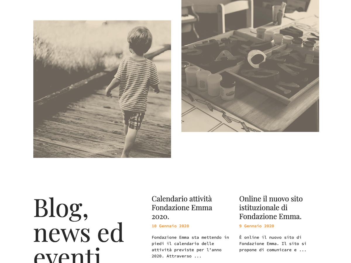 Sito web per la Onlus Fondazione Emma Venezia