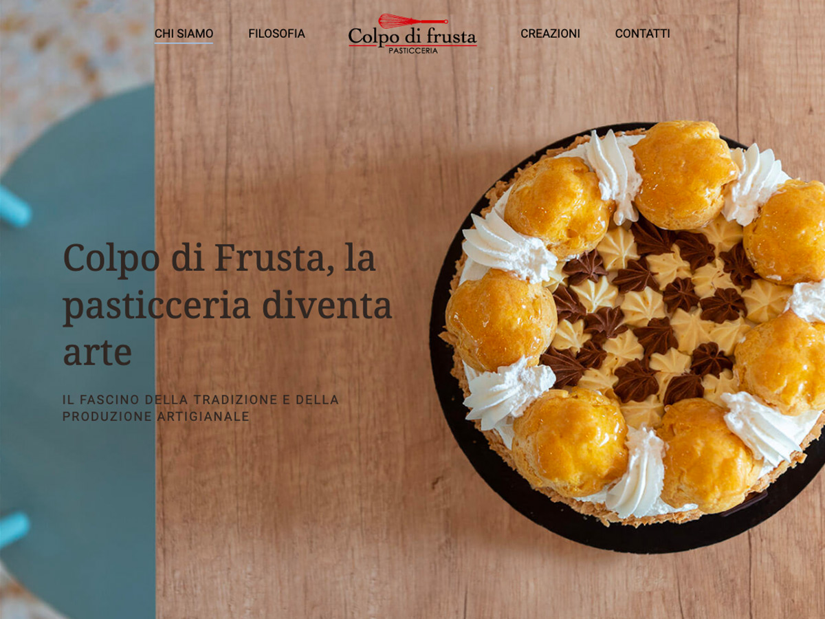 Sito web responsive per la pasticceria Colpo di frusta di Venezia