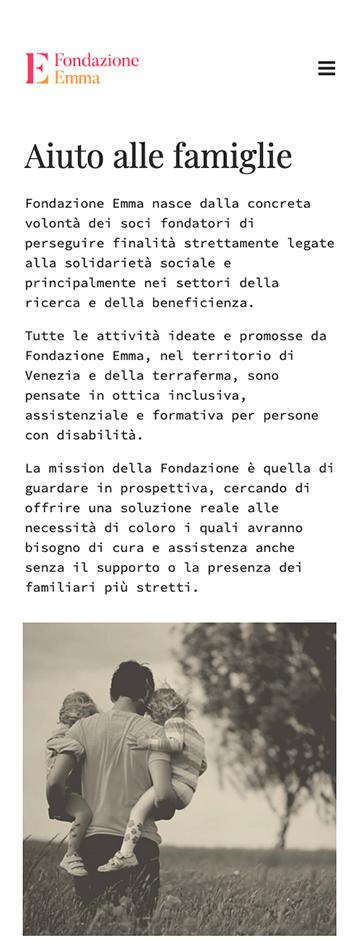 Sito web responsive per Fondazione Emma a Venezia