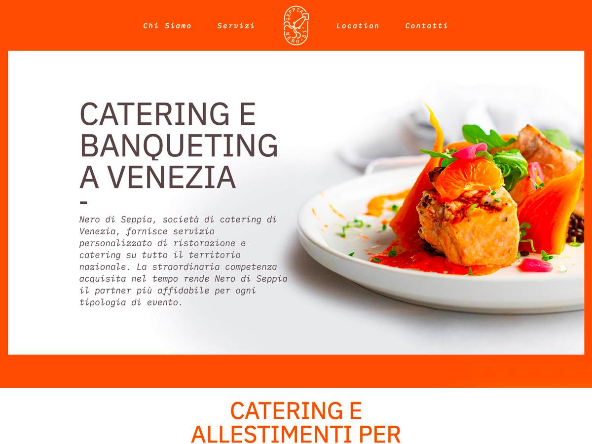 Sito Web matrimoni e catering a Venezia