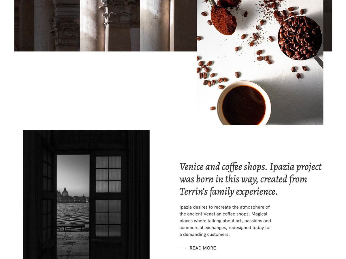 Realizzazione sito web per caffè Ipazia Venezia