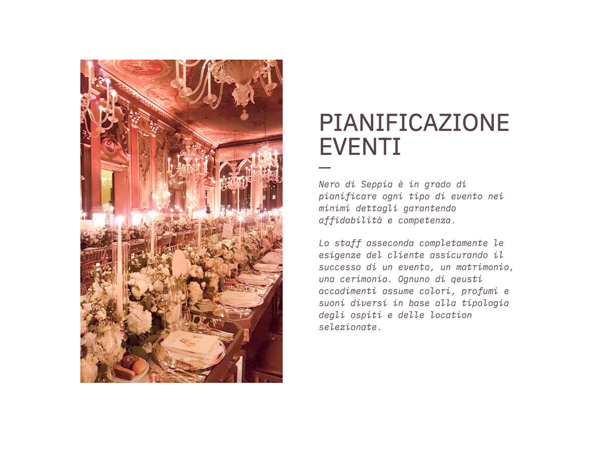 Sito Web organizzatore eventi e catering a Venezia