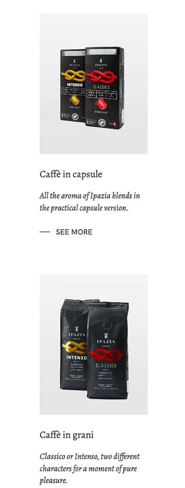 Sito web per vendita caffè
