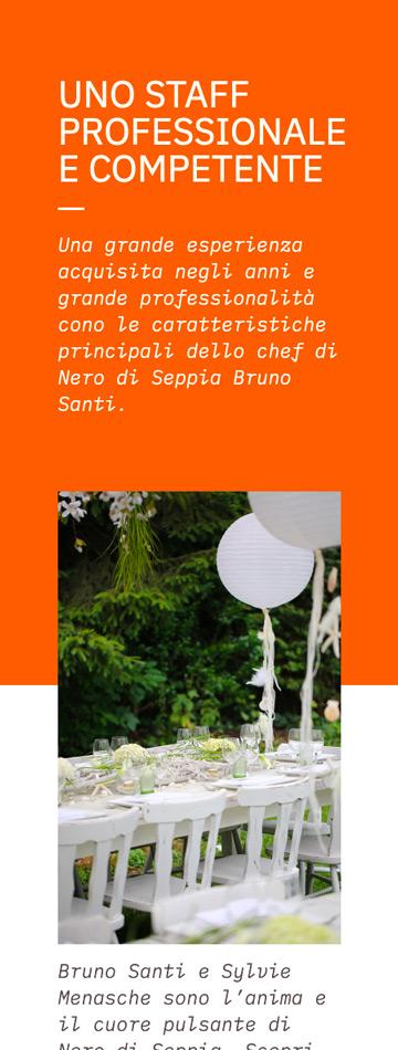 Sito web mobile per catering matrimoni a Venezia